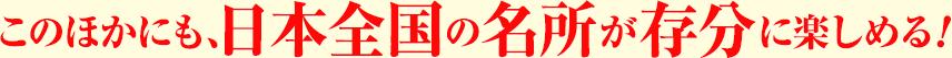 このほかにも、日本全国の名所が存分に楽しめる!