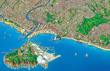 鎌倉・江の島 パノラマ地図