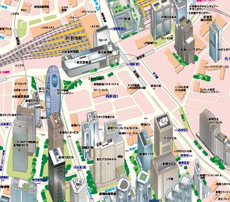 立体都市図(東京駅)